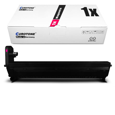 1x Alternativer Toner für OKI 43460206 Rot Magenta