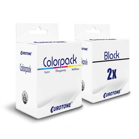 3x Alternative Tintenpatronen für HP 339+344: C9363EE Color + 2x C8767EE Schwarz