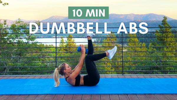 Get a Defined Flat Stomach Using A Dumbbell