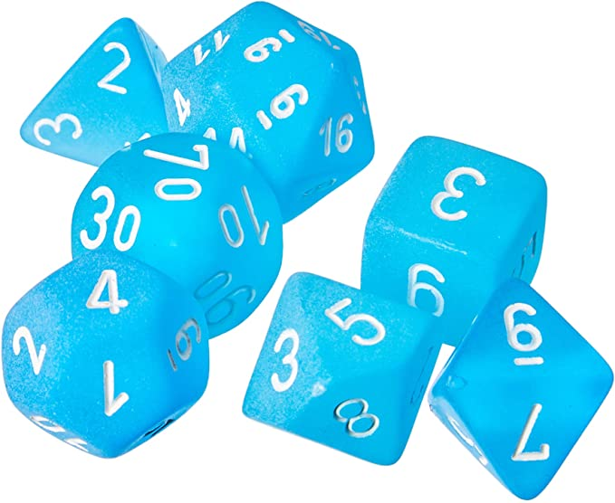 7 Die Set Frosted Carribbean Blue/White