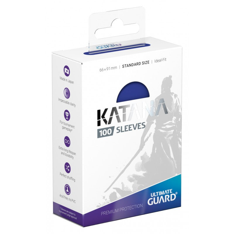 Katana 100 Count Sleeves Standard Blue