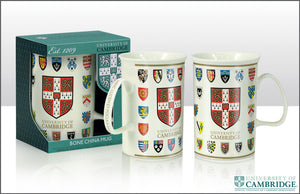 CU College Shield Fluted Bone China Mug