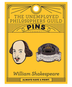 William Shakespeare Enamel Pin