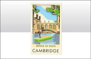 Bridge of Sighs Wood Magnet