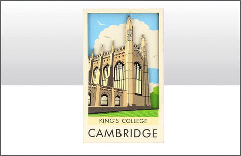 King's College Wood Magnet
