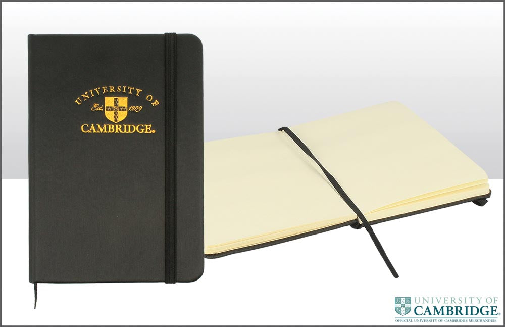 Embossed A6 Cambridge University Notebook
