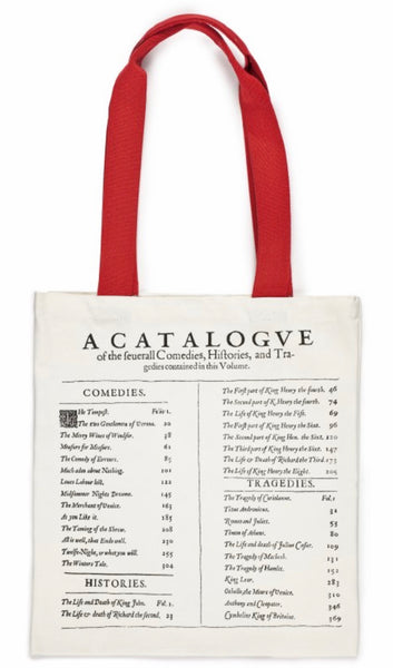 Shakespeare's First Folio Tote Bag