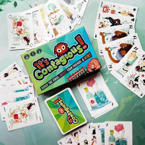it's contagious card game review woosung boardgames