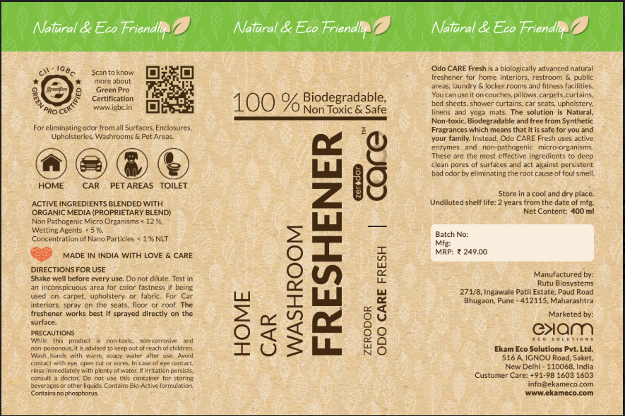 CARE Freshener Label