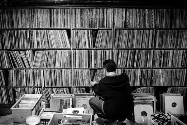 1. Haruki Murakami's personal vinyl collection.