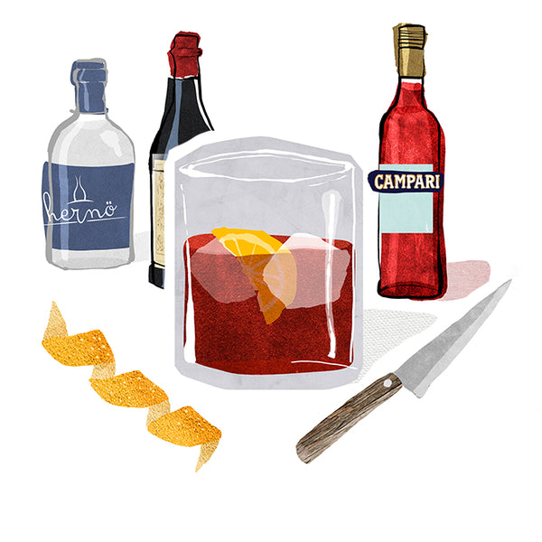 The legendary Negroni cocktail