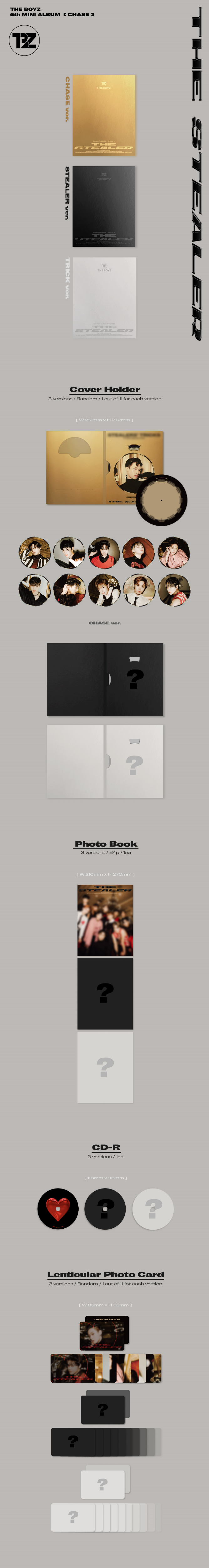 The Boyz - CHASE [5th Mini Album] Product Details