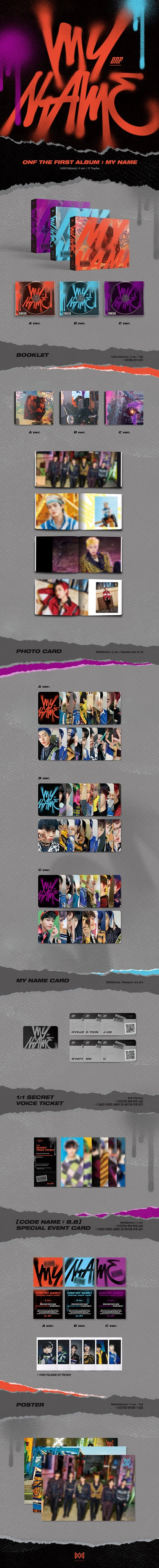 ONF - THE FIRST ALBUM ONF:MY NAME Product Details