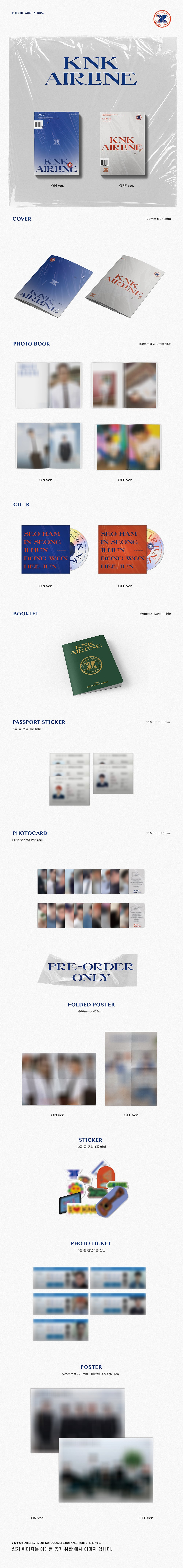 KNK 3rd Mini Album KNK AIRLINE Product Details