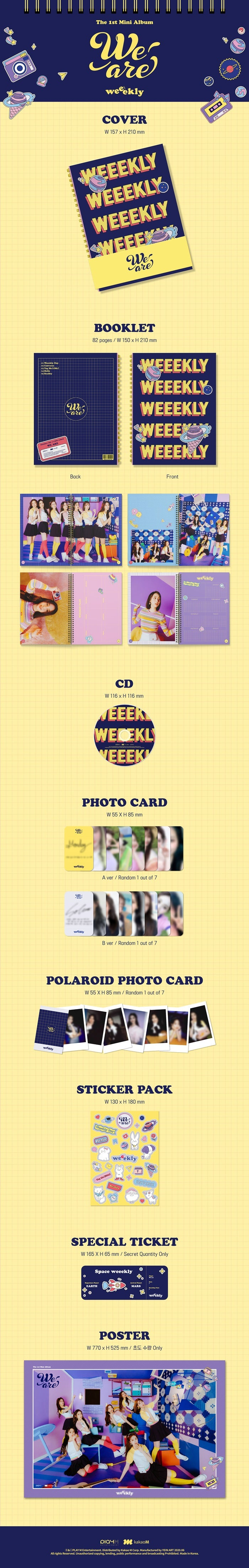 Weekley's 1st Mini Album We are Product Detail
