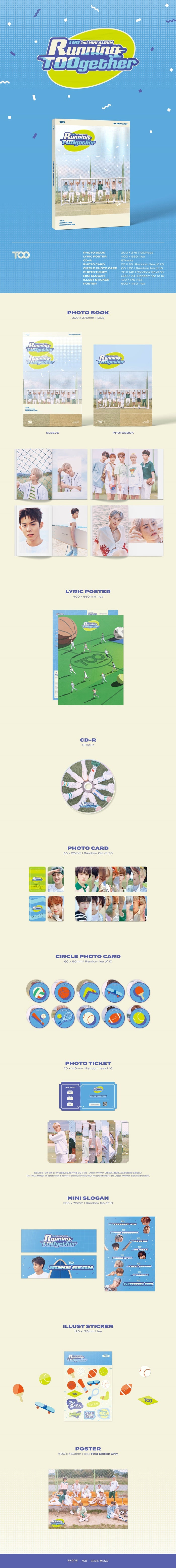 TOO 2nd Mini Album Running TOOgether Product Details