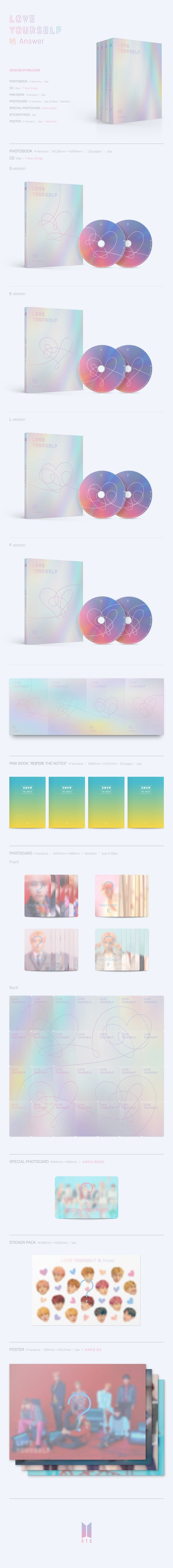 BTS LOVE YOURSELF 結 'Answer' Repackage Album