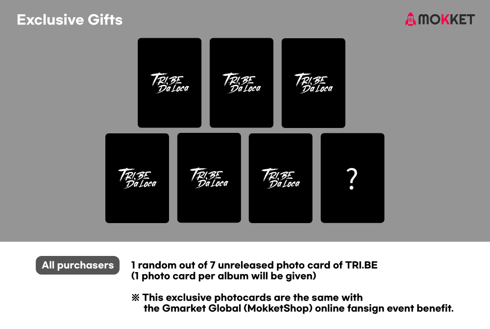 TRI.BE - EP TRI.BE Da Loca Exclusive Photocard Gift to MokketShop / Gmarket Global
