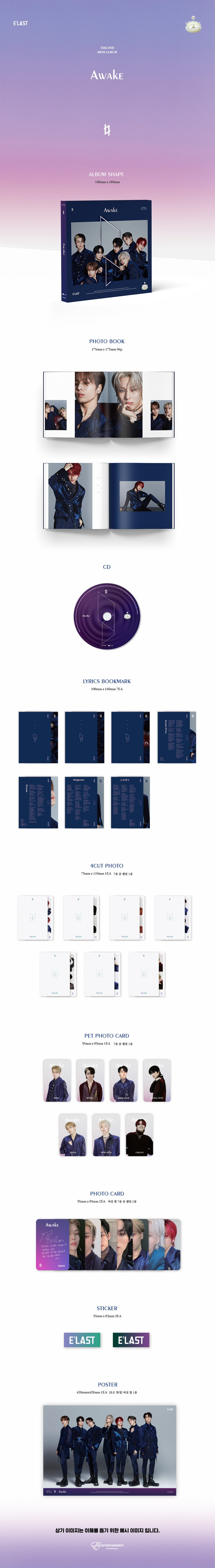 E'LAST - Awake [2nd Mini Album] Product Details