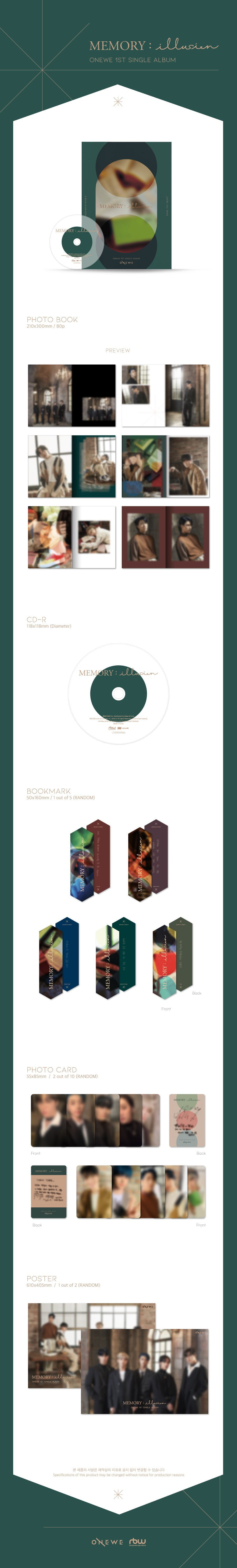 ONEWE - MEMORY : illusion product details