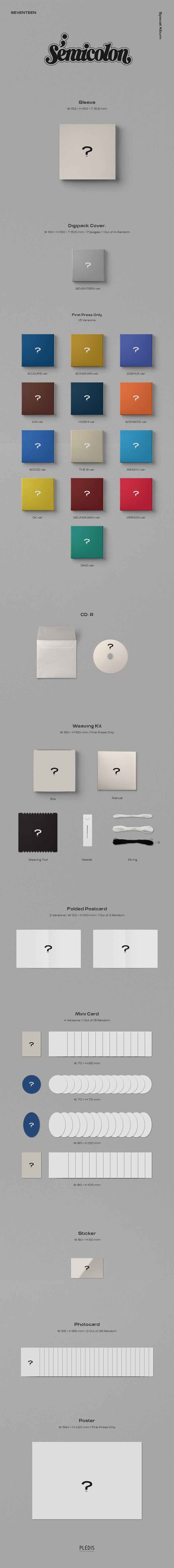 SEVENTEEN - Semicoion [Special Album] product details