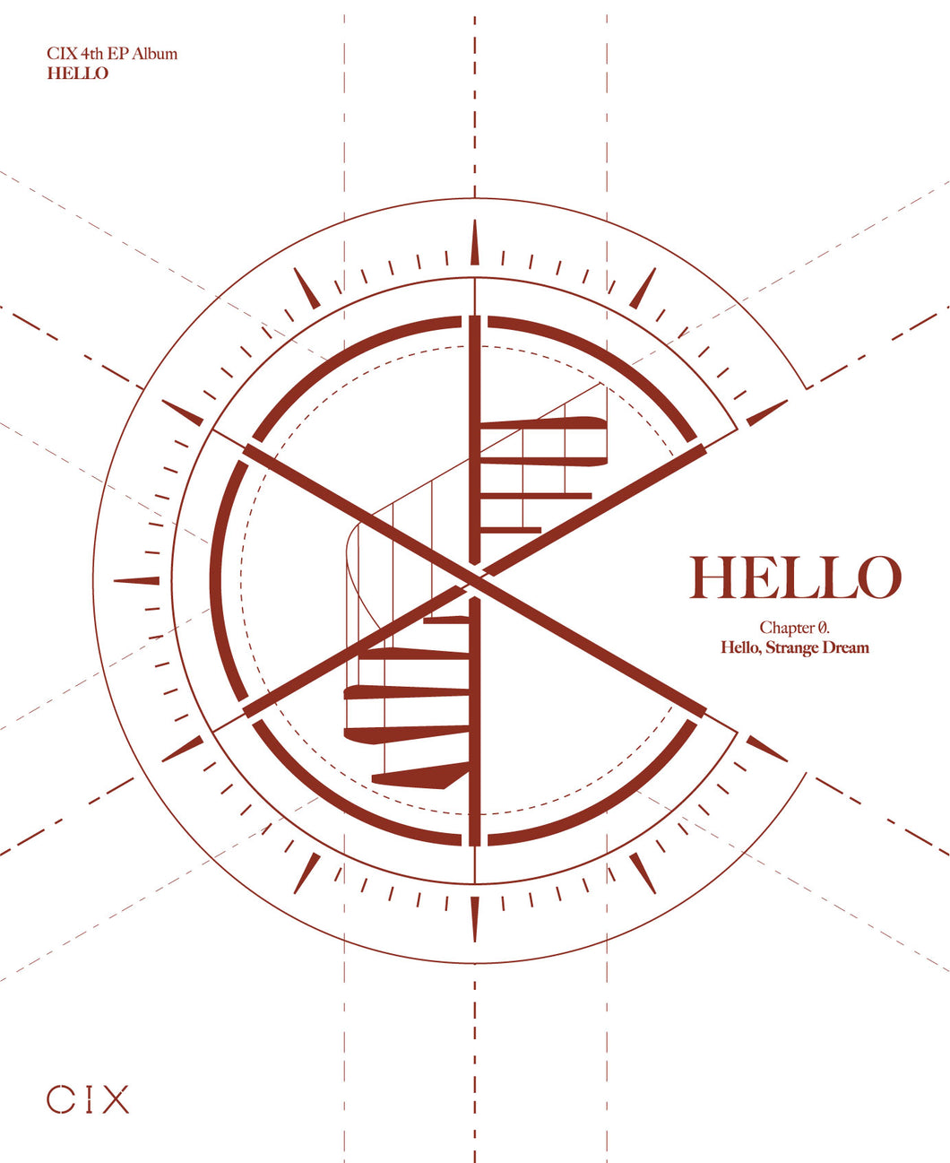 CIX - HELLO Chapter Ø. Hello, Strange Dream [4th EP Album] (Random Ver.)