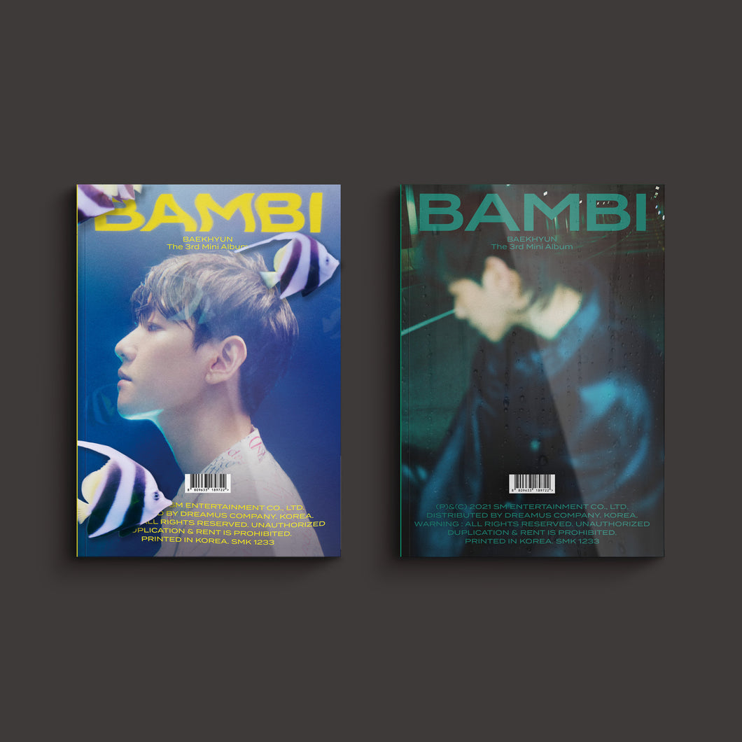 BAEK HYUN - 3rd Mini Album [Bambi] (Photo Book Ver.) (Random Ver.)