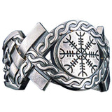 Bague Helm of Awe bijouterie viking or ou argent