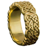 symboles vikings sur bague en or faite main
