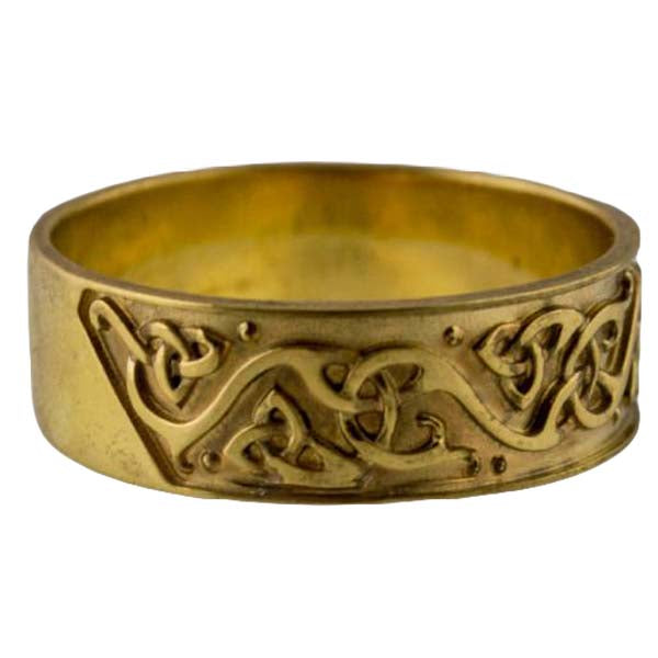 Bague viking en or ornements scandinaves