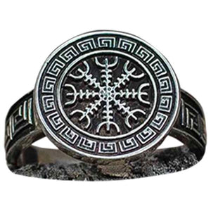 Bague Helm of Awe avec ornements viking