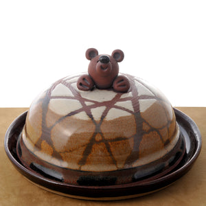 Butter Dish with Bear decoration