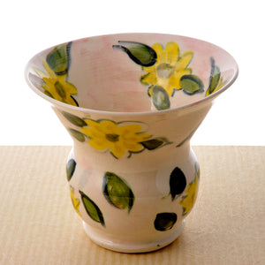 Bright Yellow Floral Vase