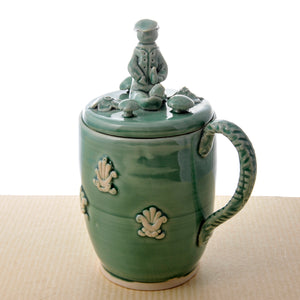 Lidded handmade Mug or Beer Stein