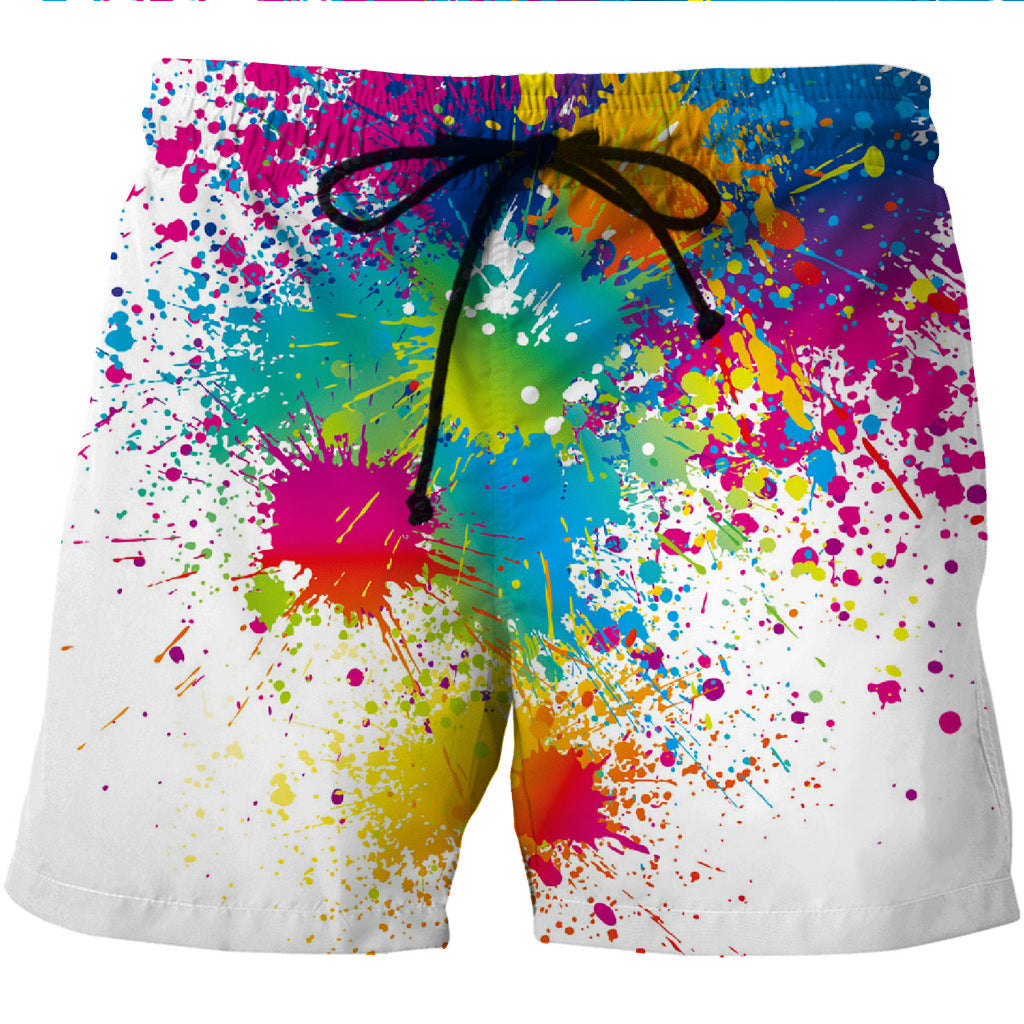 Paint Splatter Board Shorts