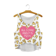 Pizza Is Life Crop Top