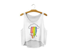 Puking Rainbows Crop Top