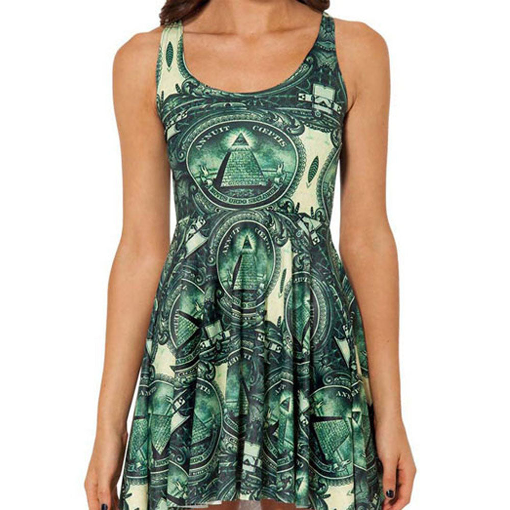 Dollar Bill Skater Dress