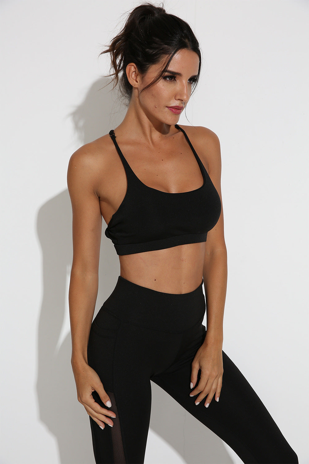 Blackout Sports Bra and Leggings Set