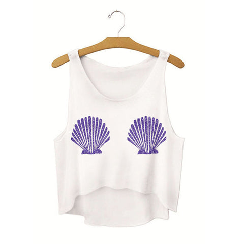 Mermaid Shell Bra Crop Top