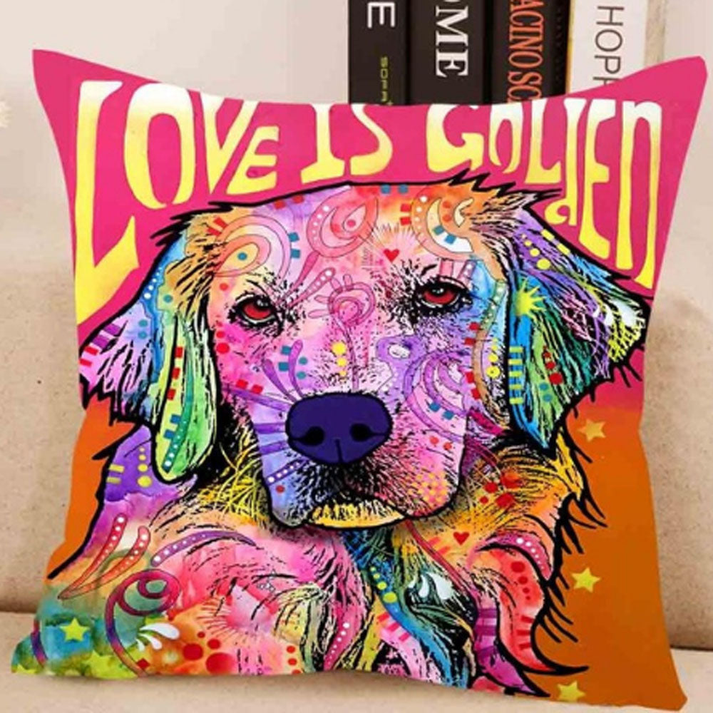 Love is Golden Pillow Cover