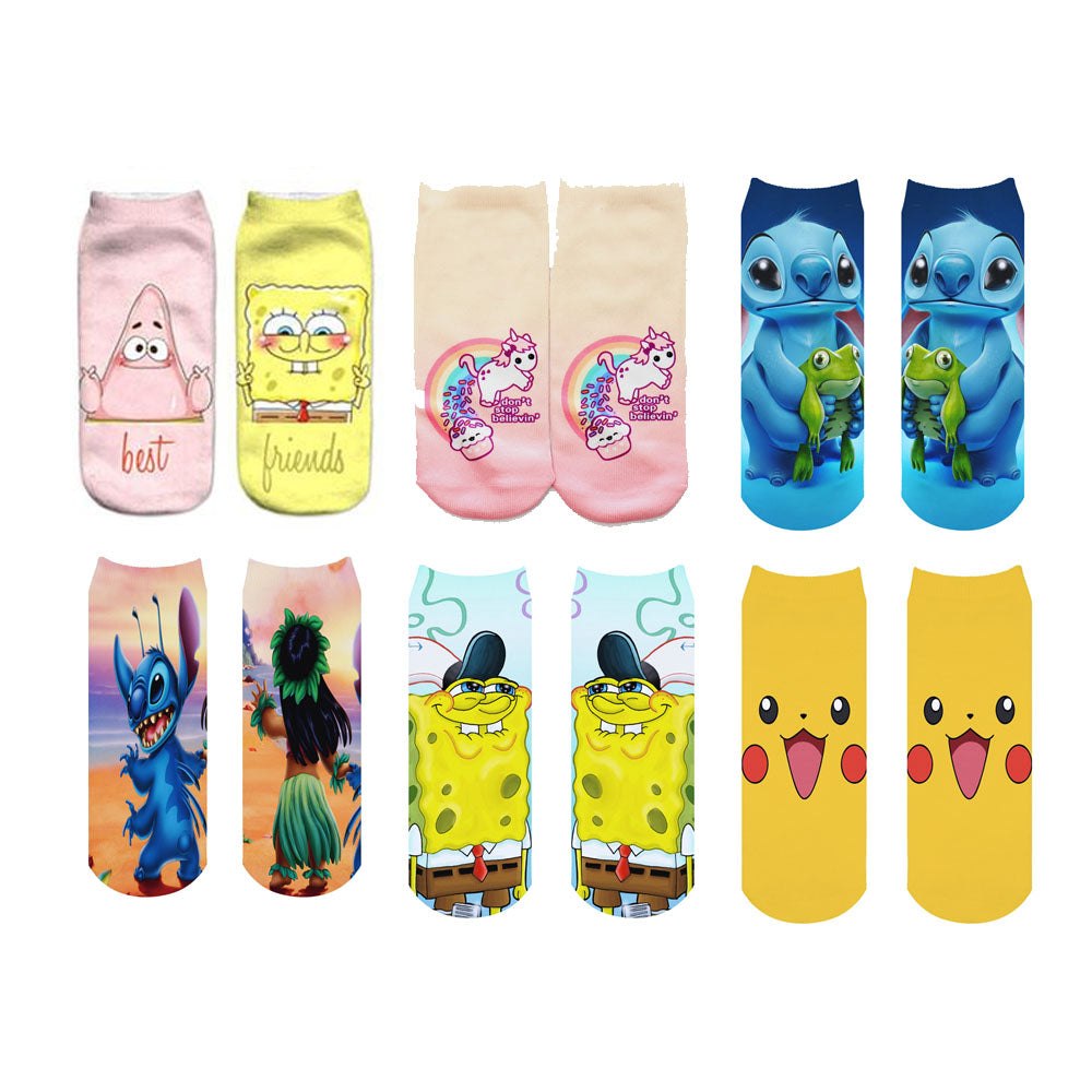 Best Friends Printed Socks Set