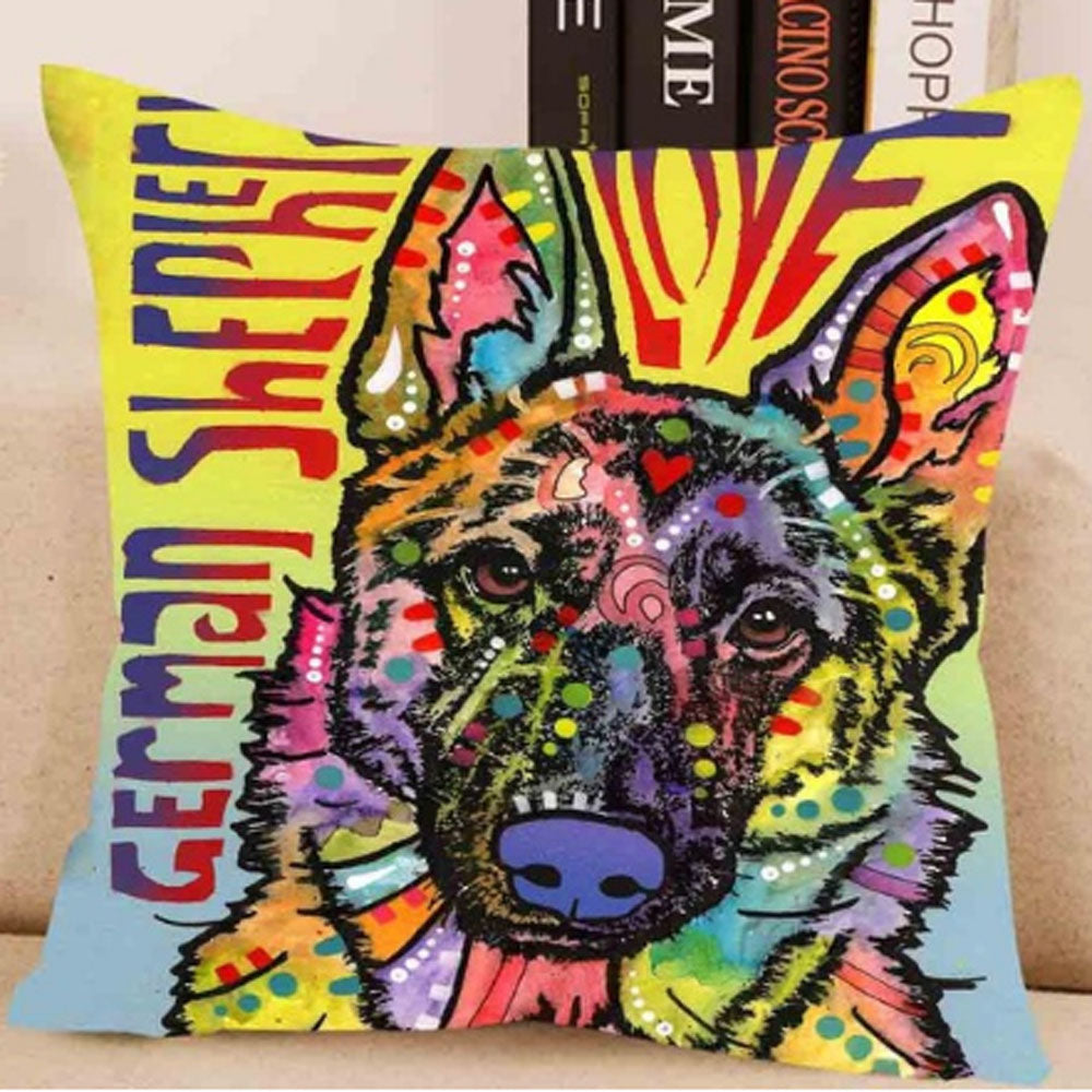German Shepard Love Pillow Cover