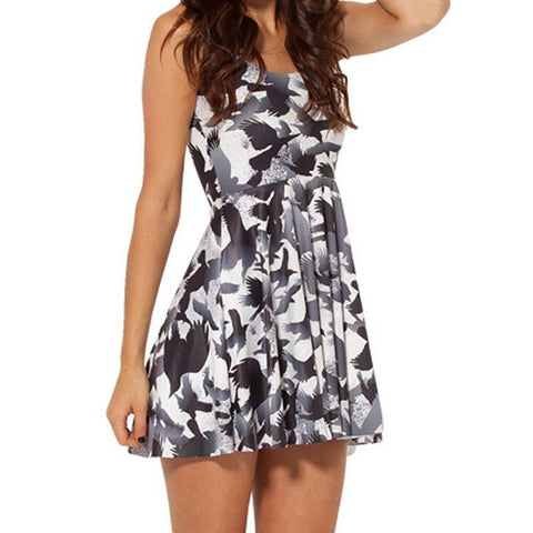Flying Birds Skater Dress
