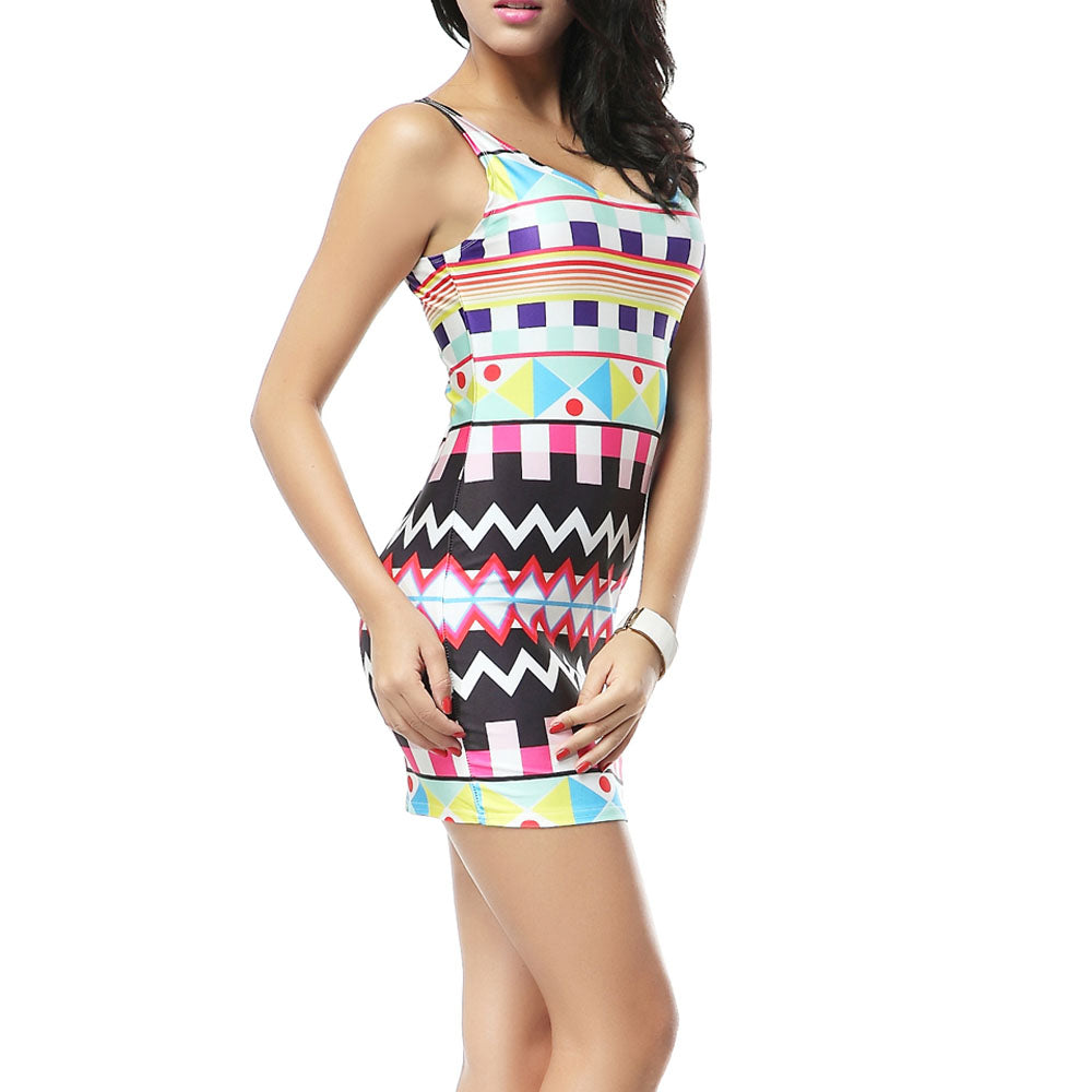 Aztec Sleeveless Dress