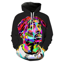 Limited Edition Tupac Hoodie 3D Printed