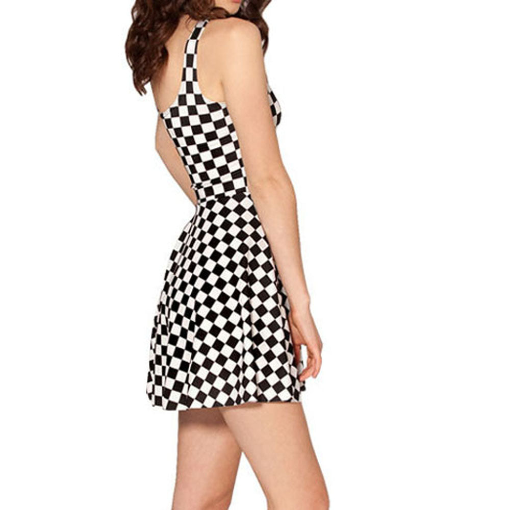 Classic Checkered Skater Dress