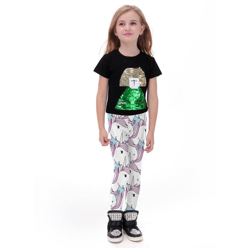 Jolly Unicorn Leggings for Kids