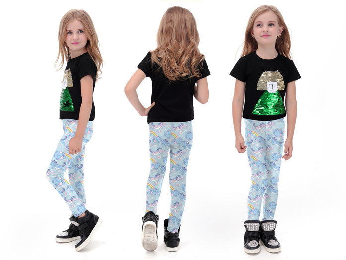 Unicorn Skies Leggings for Kids