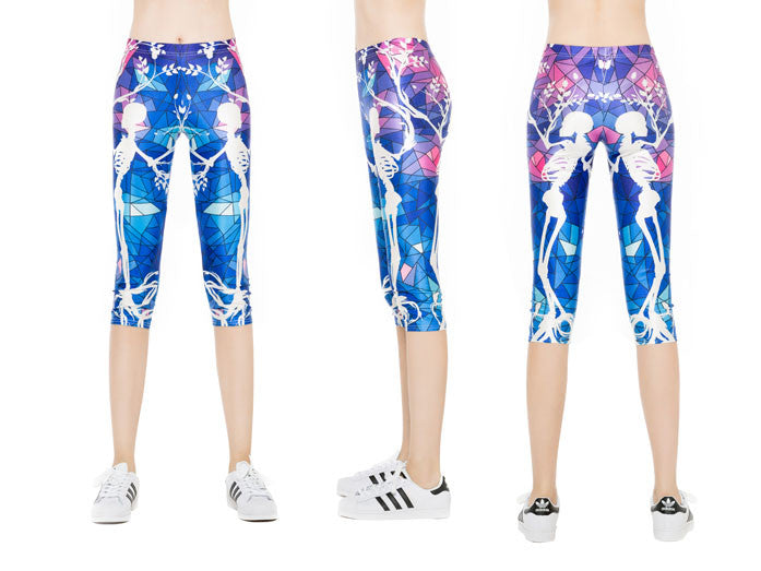 Stained Glass Skeleton Capri